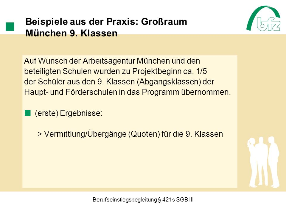 Beispiele aus der Praxis: Großraum München 9. Klassen