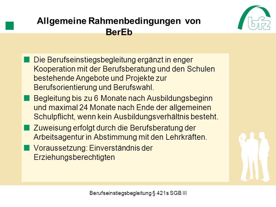 Allgemeine Rahmenbedingungen von BerEb