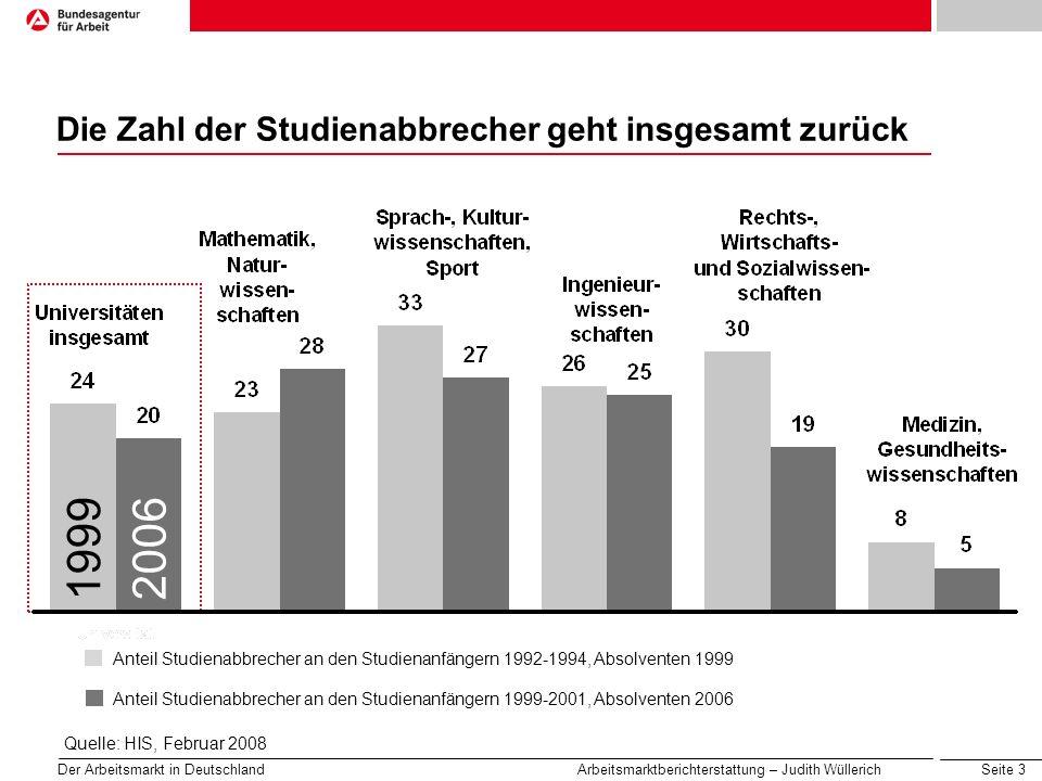 Die Zahl der Studienabbrecher geht insgesamt zurück
