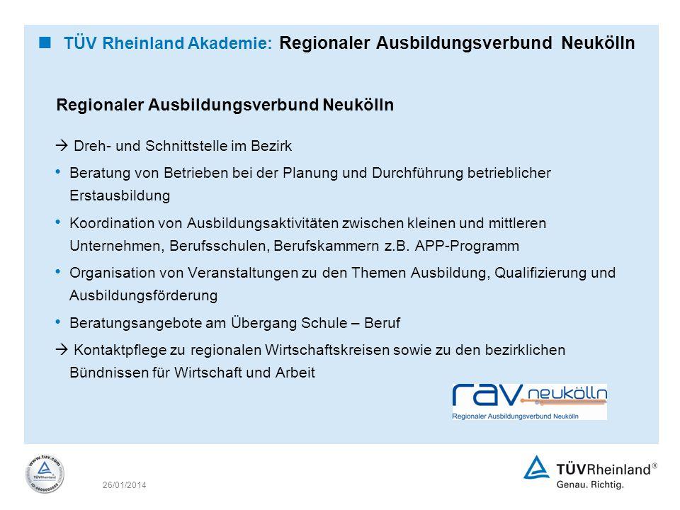 TÜV Rheinland Akademie: Regionaler Ausbildungsverbund Neukölln