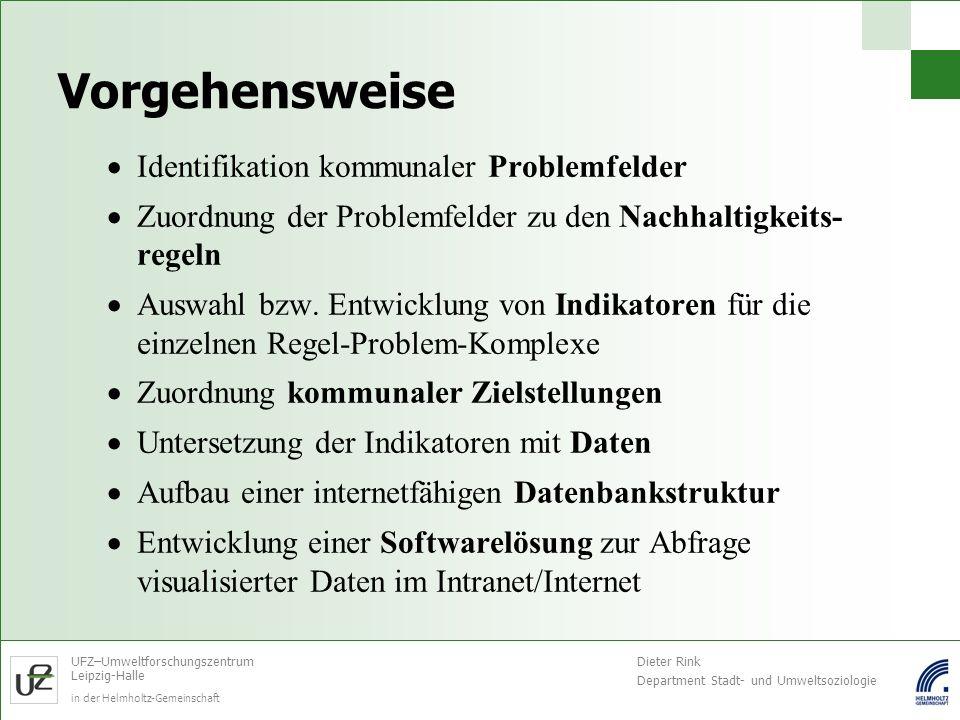 Vorgehensweise Identifikation kommunaler Problemfelder