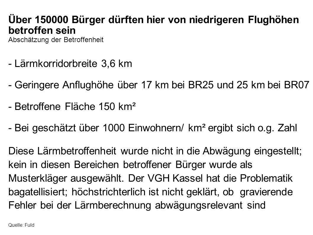- Lärmkorridorbreite 3,6 km