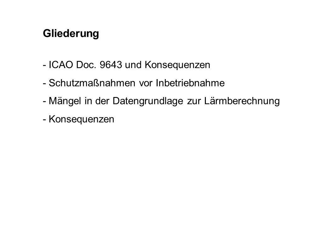 Gliederung - ICAO Doc. 9643 und Konsequenzen