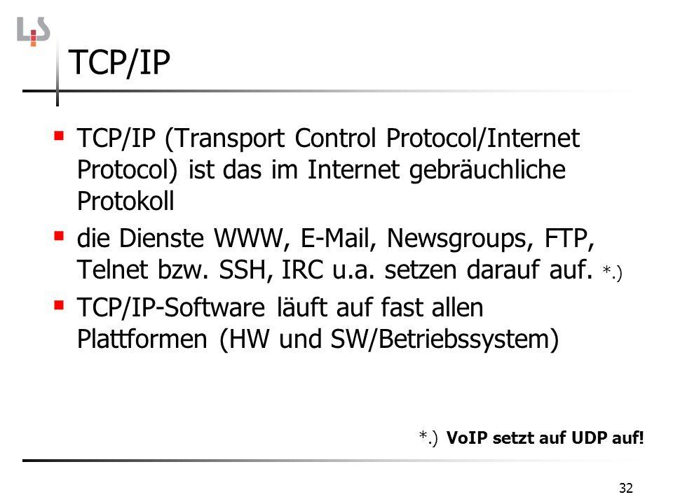 TCP/IP TCP/IP (Transport Control Protocol/Internet Protocol) ist das im Internet gebräuchliche Protokoll.