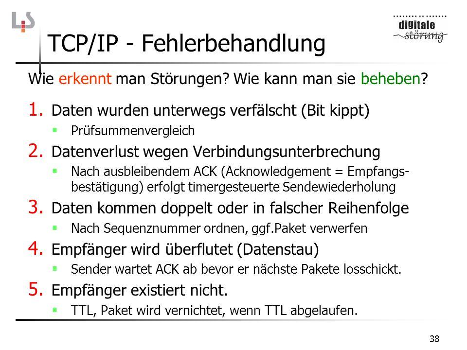 TCP/IP - Fehlerbehandlung