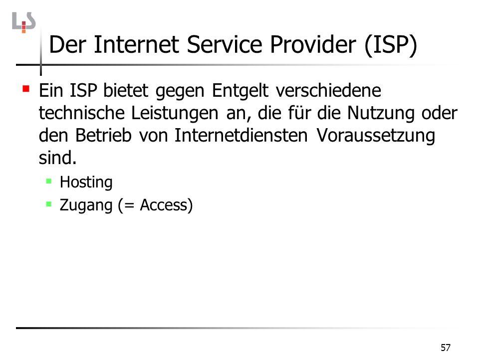 Der Internet Service Provider (ISP)