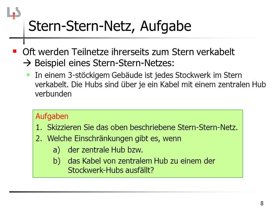 Stern-Stern-Netz, Aufgabe