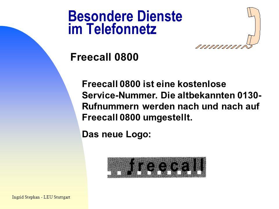 Besondere Dienste im Telefonnetz