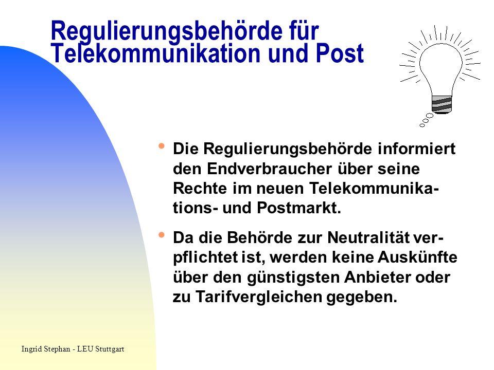 Regulierungsbehörde für Telekommunikation und Post