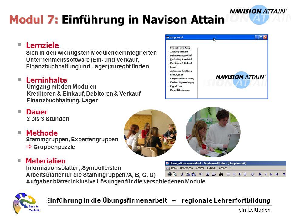 Modul 7: Einführung in Navison Attain
