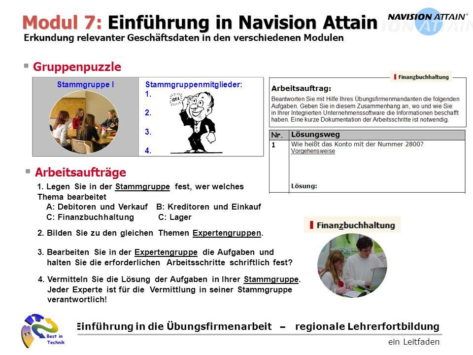 Modul 7: Einführung in Navision Attain