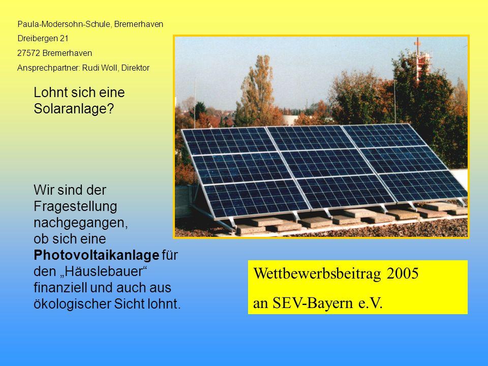 Wettbewerbsbeitrag 2005 an SEV-Bayern e.V.