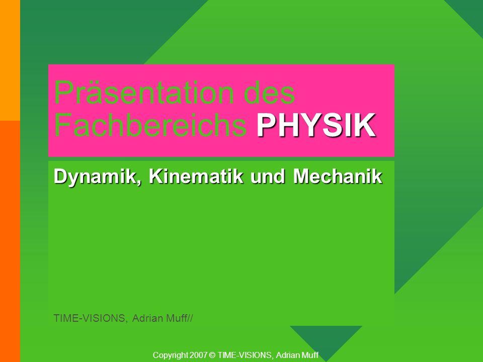 Präsentation des Fachbereichs PHYSIK
