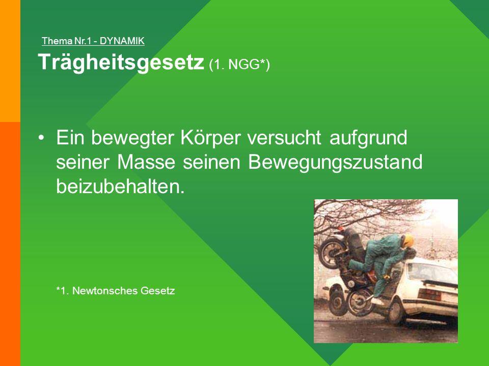 Trägheitsgesetz (1. NGG*)