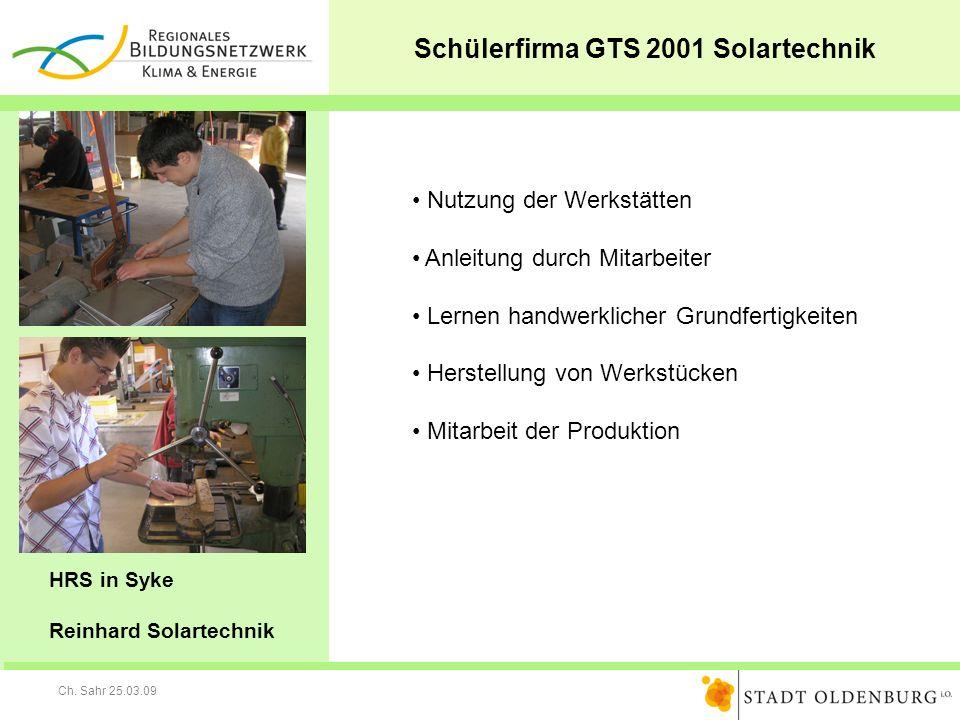 Schülerfirma GTS 2001 Solartechnik