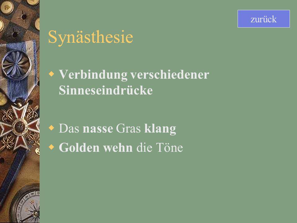 Synästhesie Verbindung verschiedener Sinneseindrücke