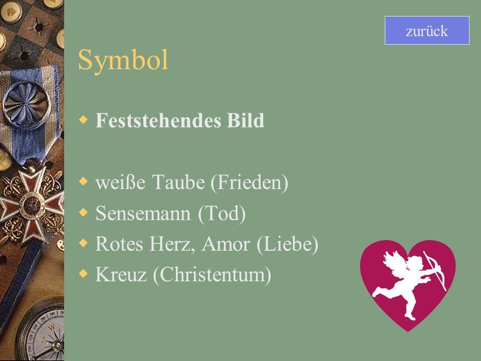 Symbol Feststehendes Bild weiße Taube (Frieden) Sensemann (Tod)