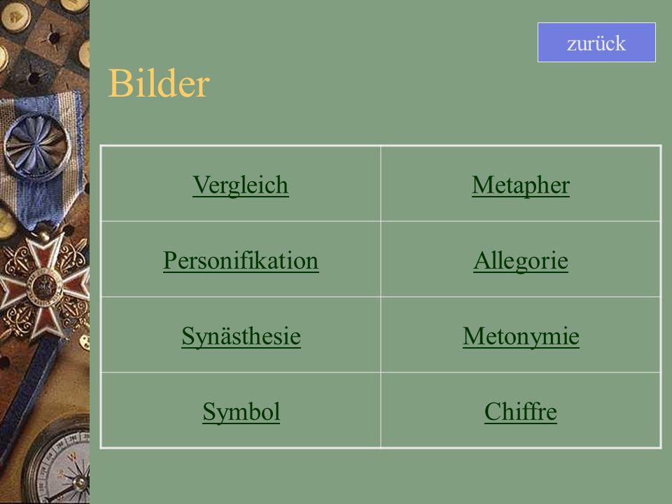 Bilder Vergleich Metapher Personifikation Allegorie Synästhesie