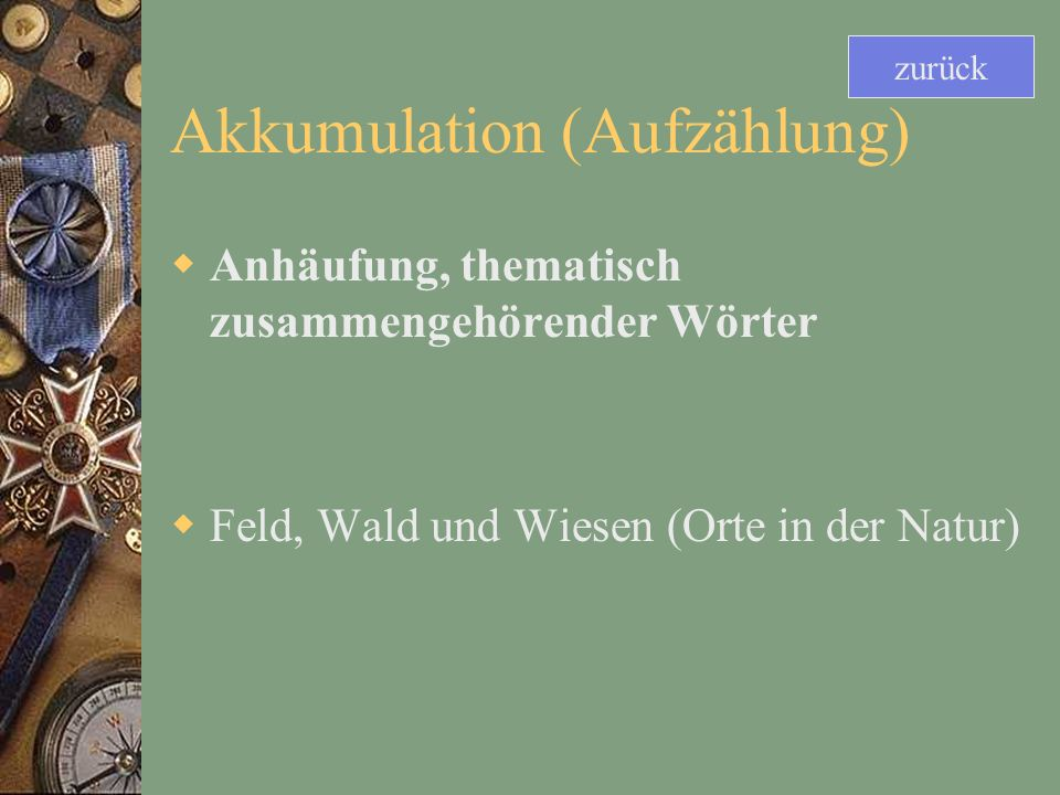 Akkumulation (Aufzählung)