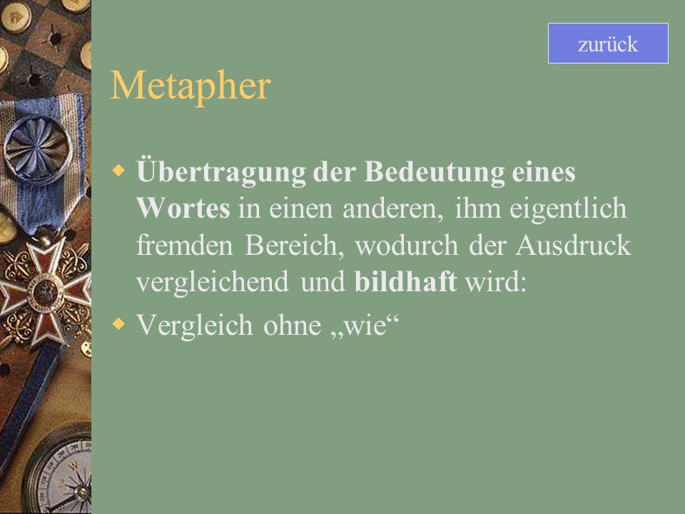 zurück Metapher.