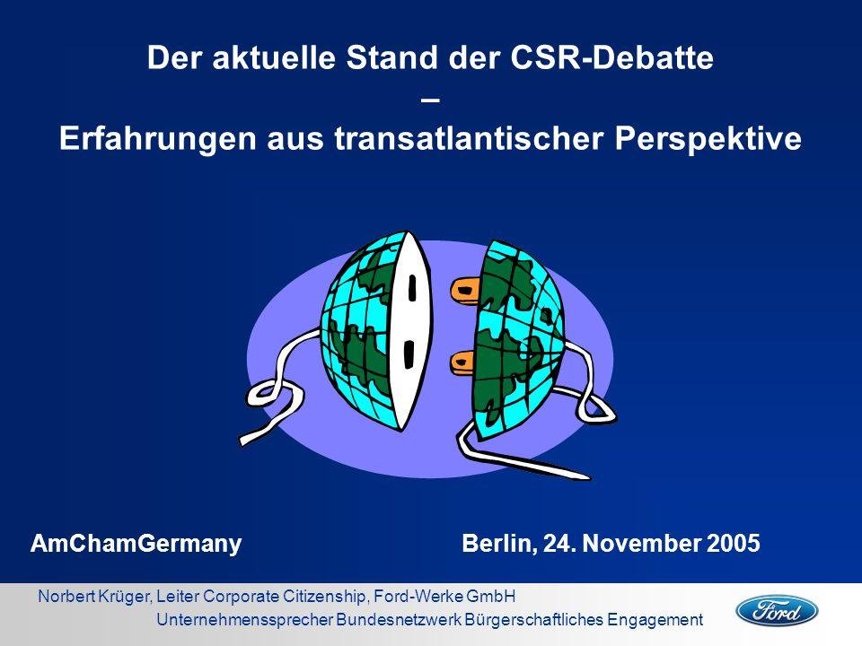 Der aktuelle Stand der CSR-Debatte –