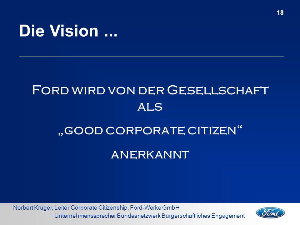 """Ford wird von der Gesellschaft als """"good corporate citizen"""