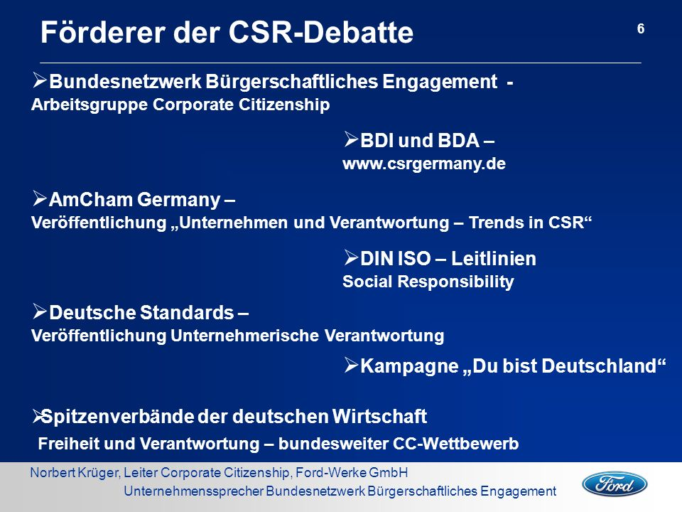 Förderer der CSR-Debatte