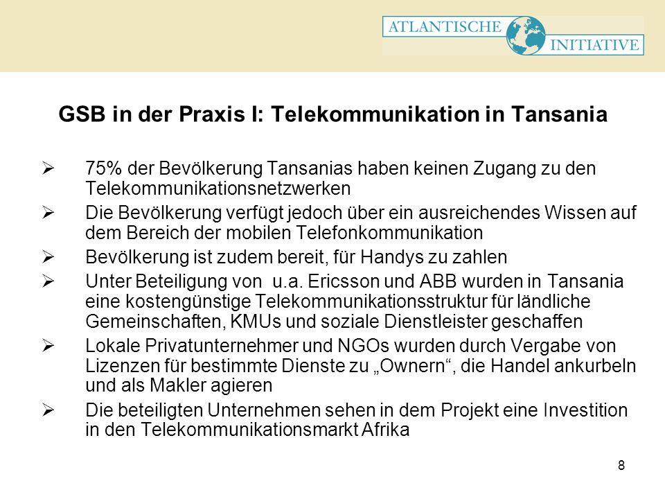 GSB in der Praxis I: Telekommunikation in Tansania
