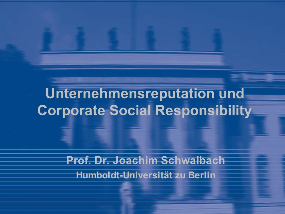 Unternehmensreputation und Corporate Social Responsibility