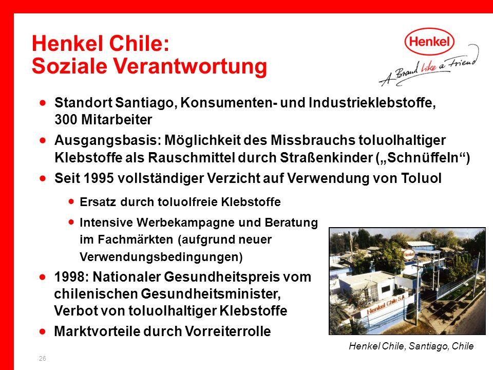 Henkel Chile: Soziale Verantwortung