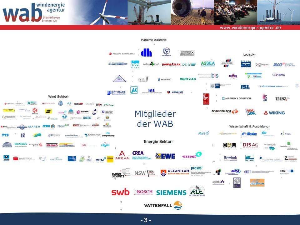 Mitglieder der WAB Maritime Industrie Logistik Windsektor