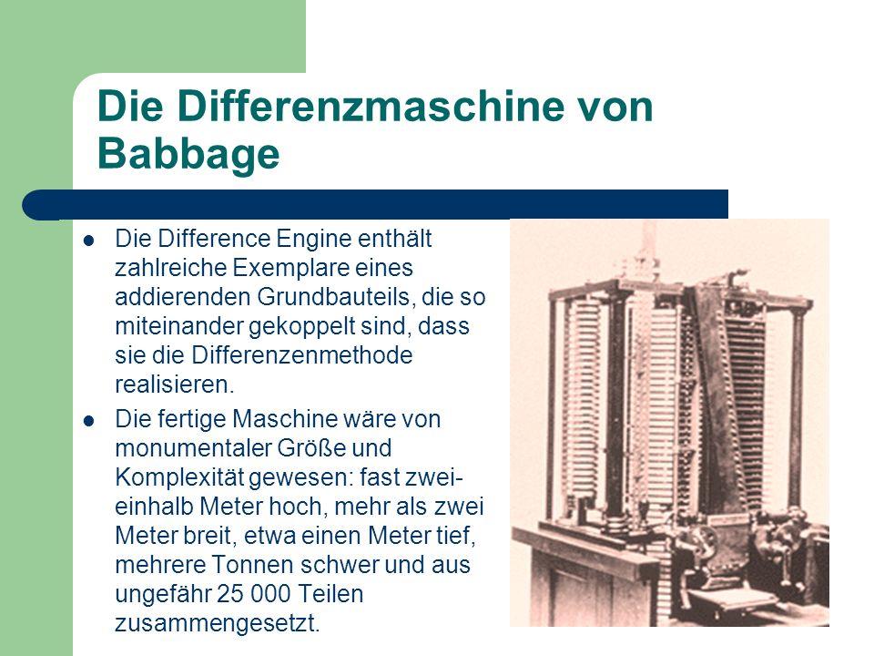 Die Differenzmaschine von Babbage
