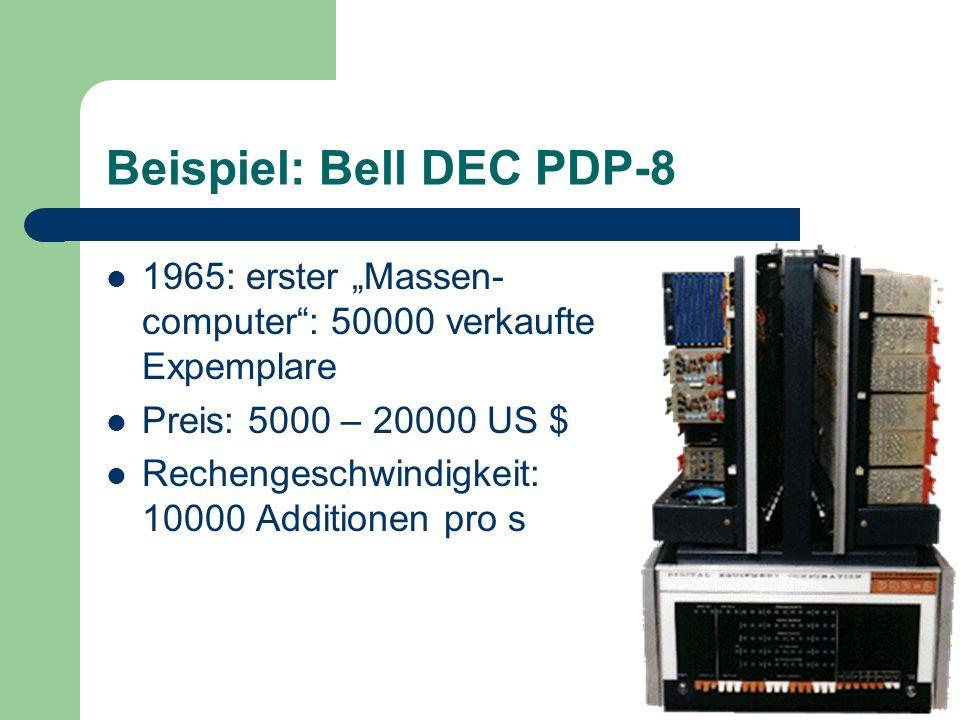 Beispiel: Bell DEC PDP-8