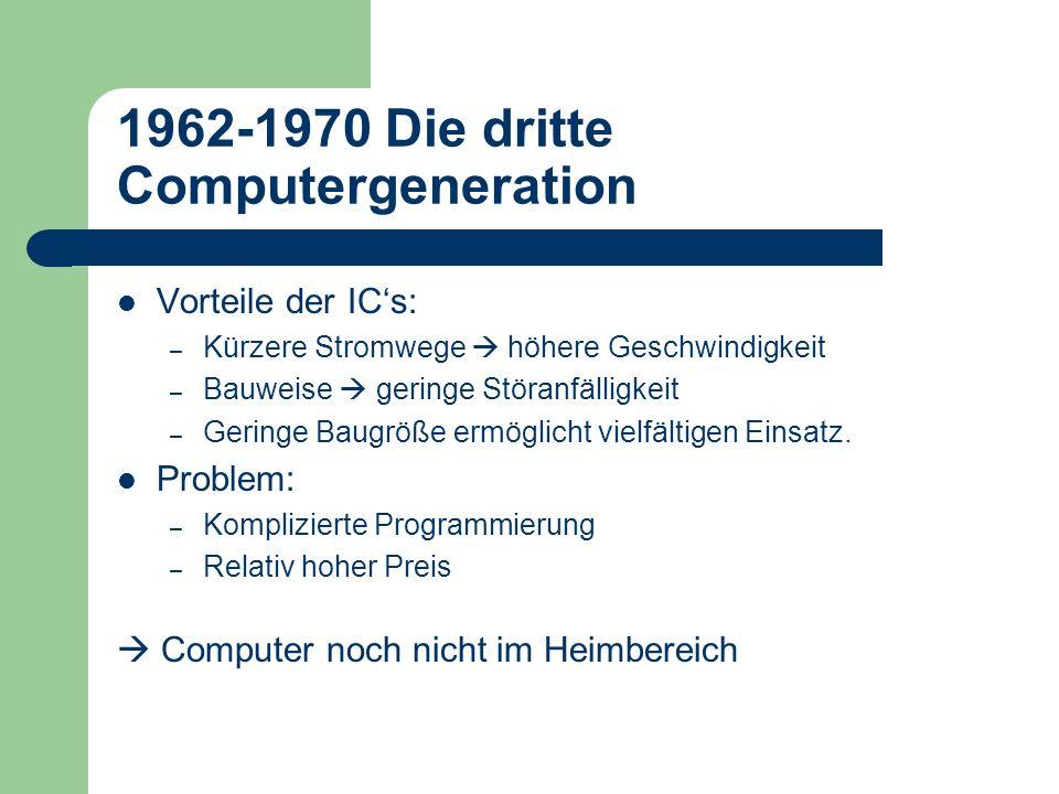 1962-1970 Die dritte Computergeneration