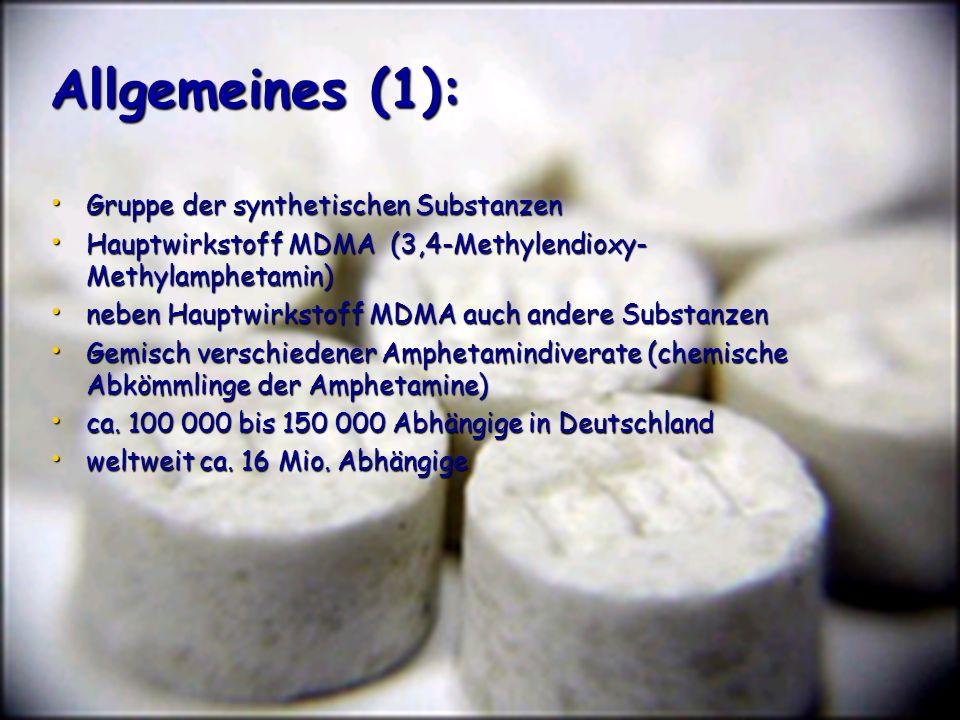 Allgemeines (1): Gruppe der synthetischen Substanzen