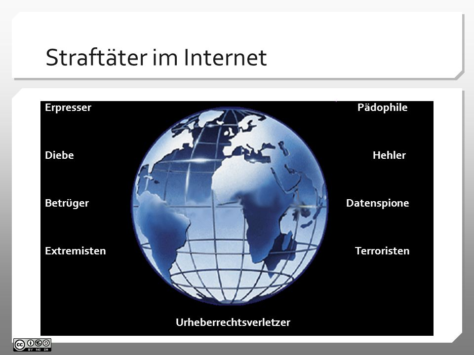 Straftäter im Internet