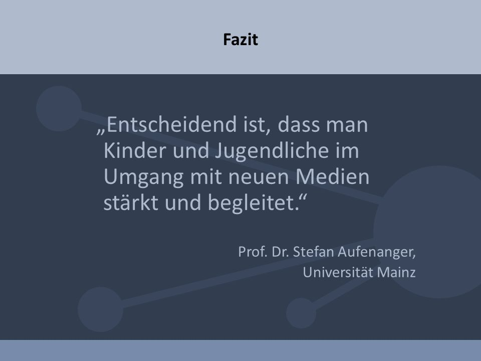 Prof. Dr. Stefan Aufenanger, Universität Mainz