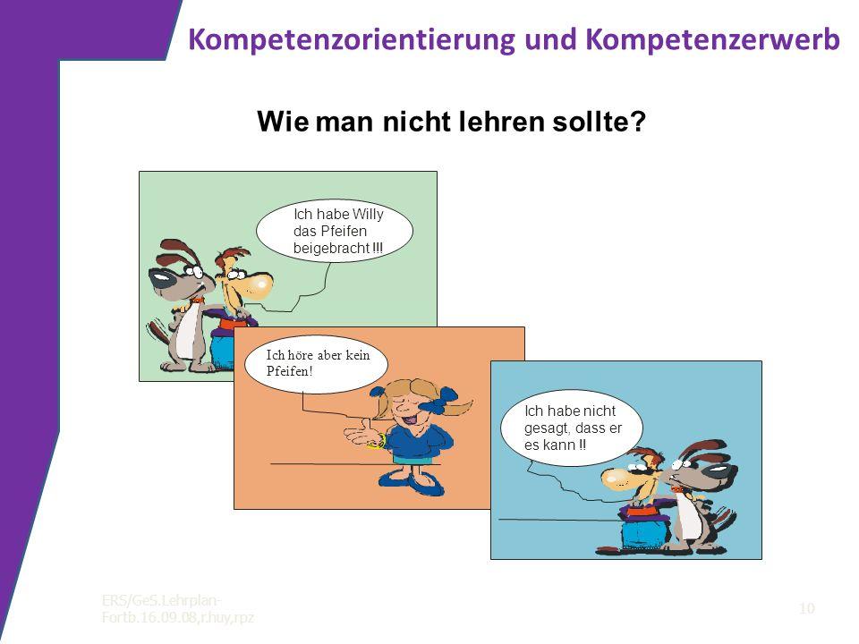Kompetenzorientierung und Kompetenzerwerb