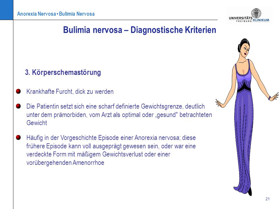Bulimia nervosa – Diagnostische Kriterien