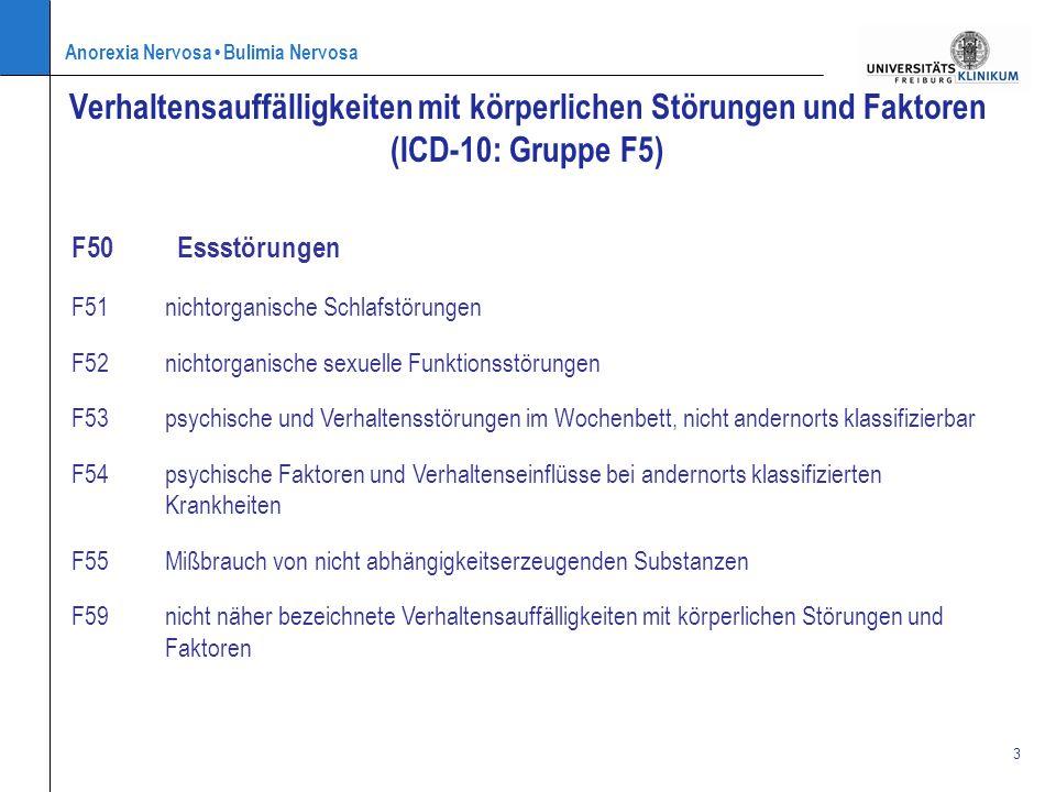 Verhaltensauffälligkeiten mit körperlichen Störungen und Faktoren (ICD-10: Gruppe F5)