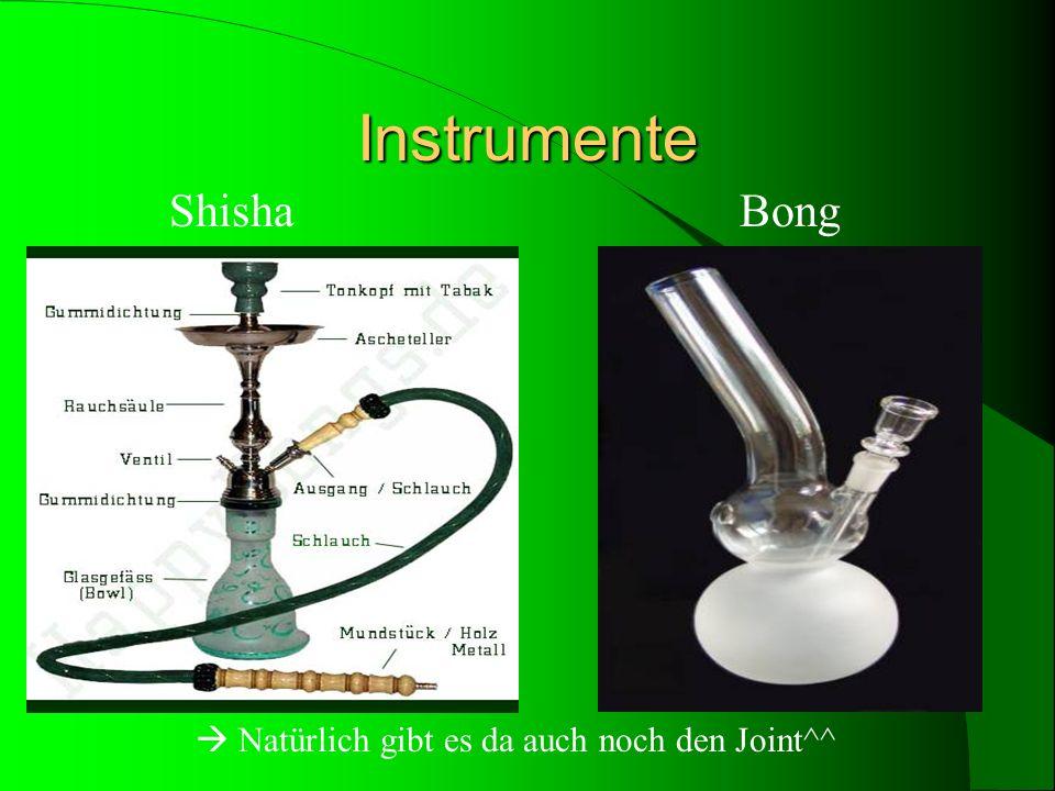 Instrumente Shisha Bong.