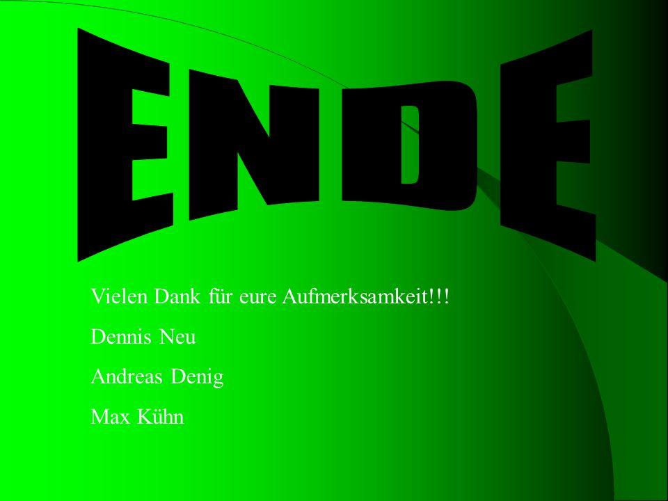 ENDE Vielen Dank für eure Aufmerksamkeit!!! Dennis Neu Andreas Denig