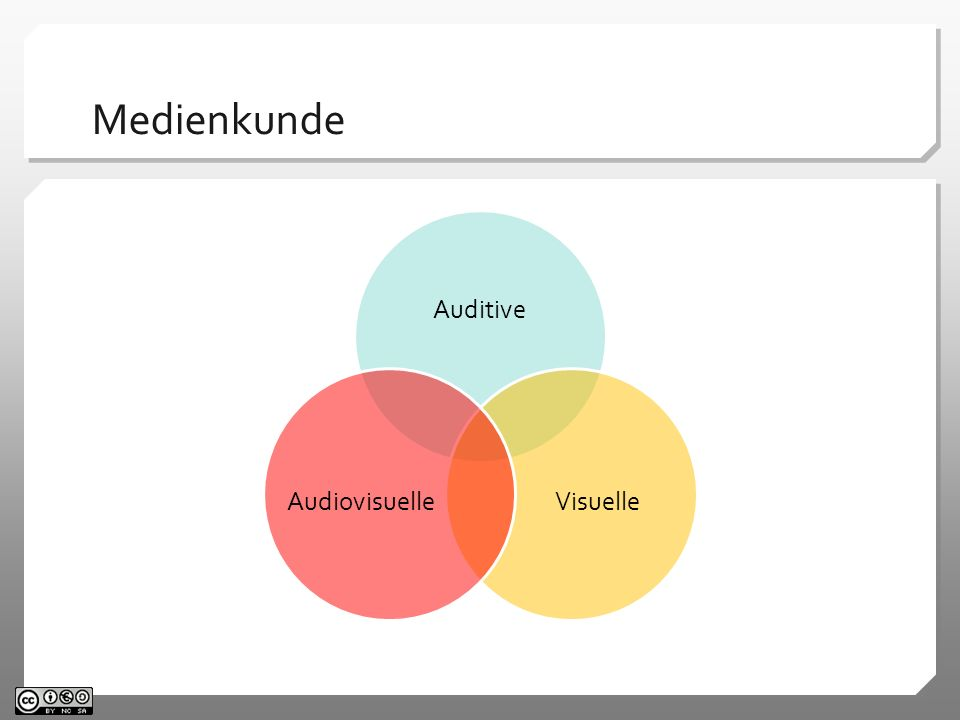 Medienkunde Auditive. Visuelle. Audiovisuelle.