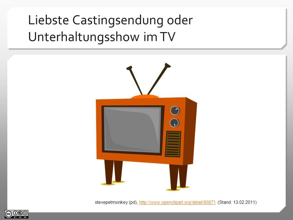 Liebste Castingsendung oder Unterhaltungsshow im TV