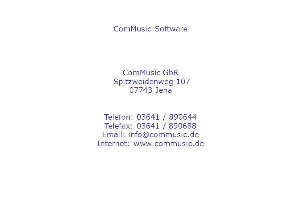 Internet: www.commusic.de