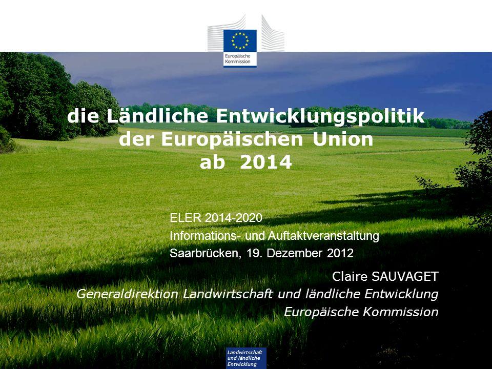 die Ländliche Entwicklungspolitik der Europäischen Union ab 2014