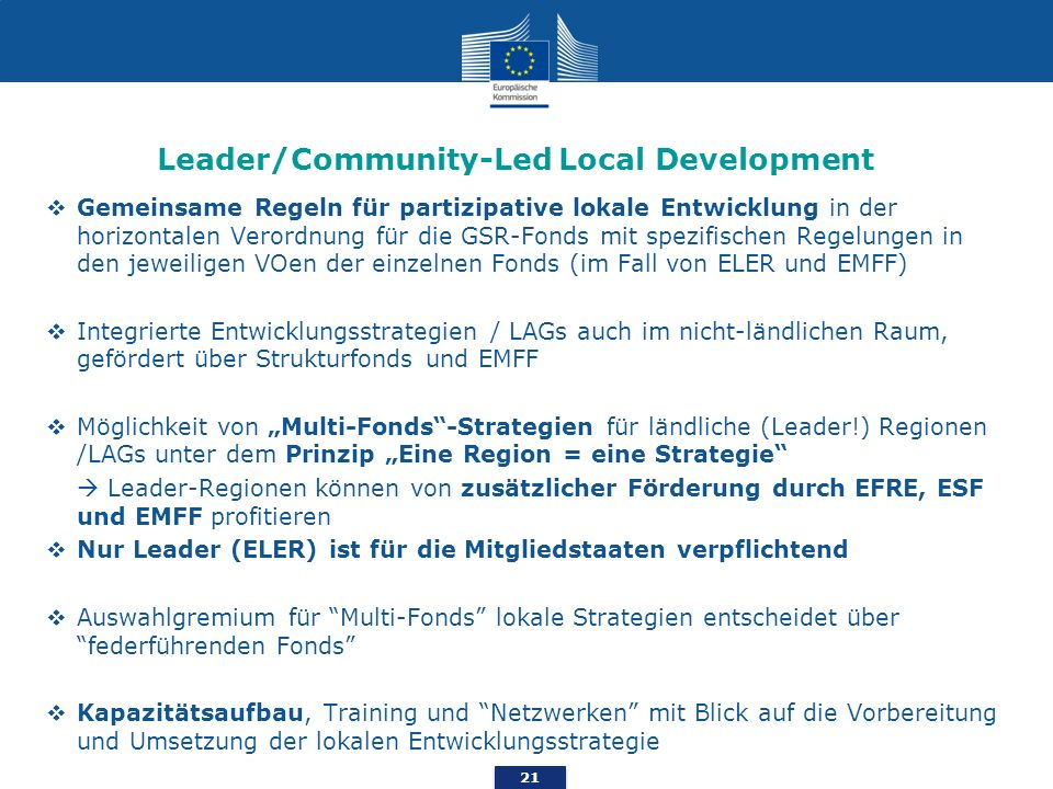 Leader/Community-Led Local Development