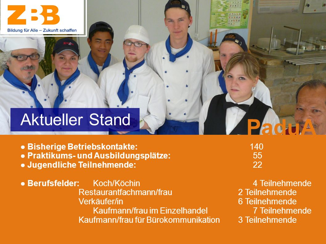 PaduA Aktueller Stand ● Bisherige Betriebskontakte: 140