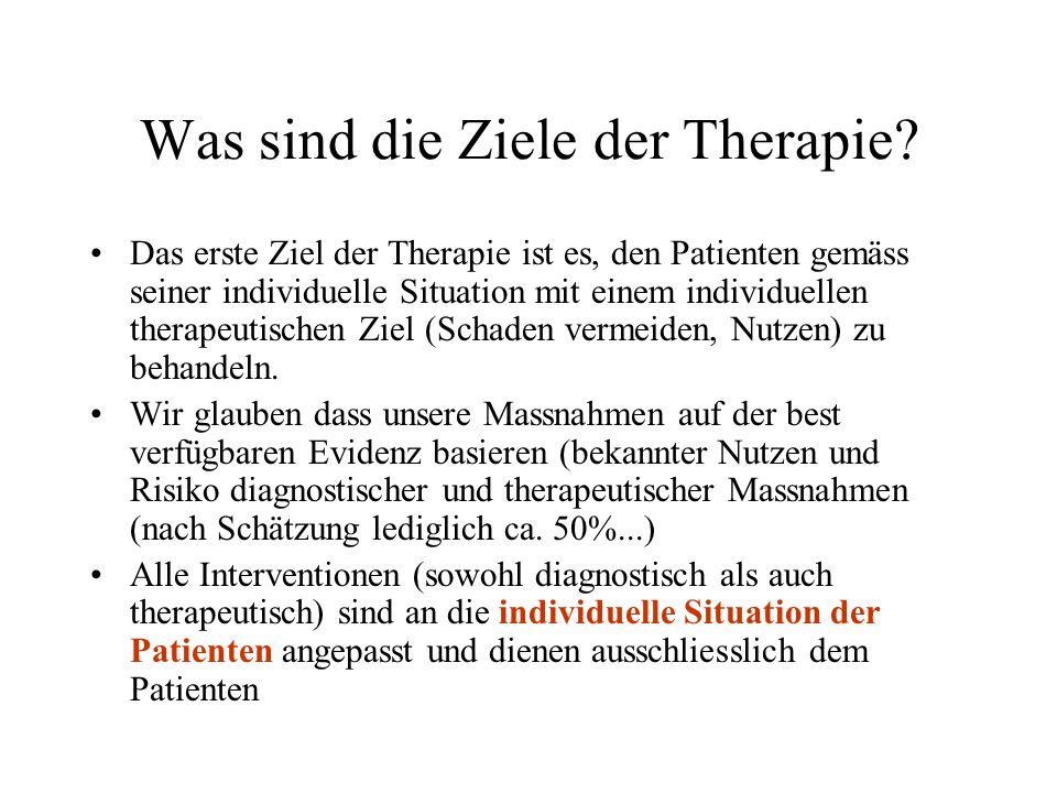 Was sind die Ziele der Therapie