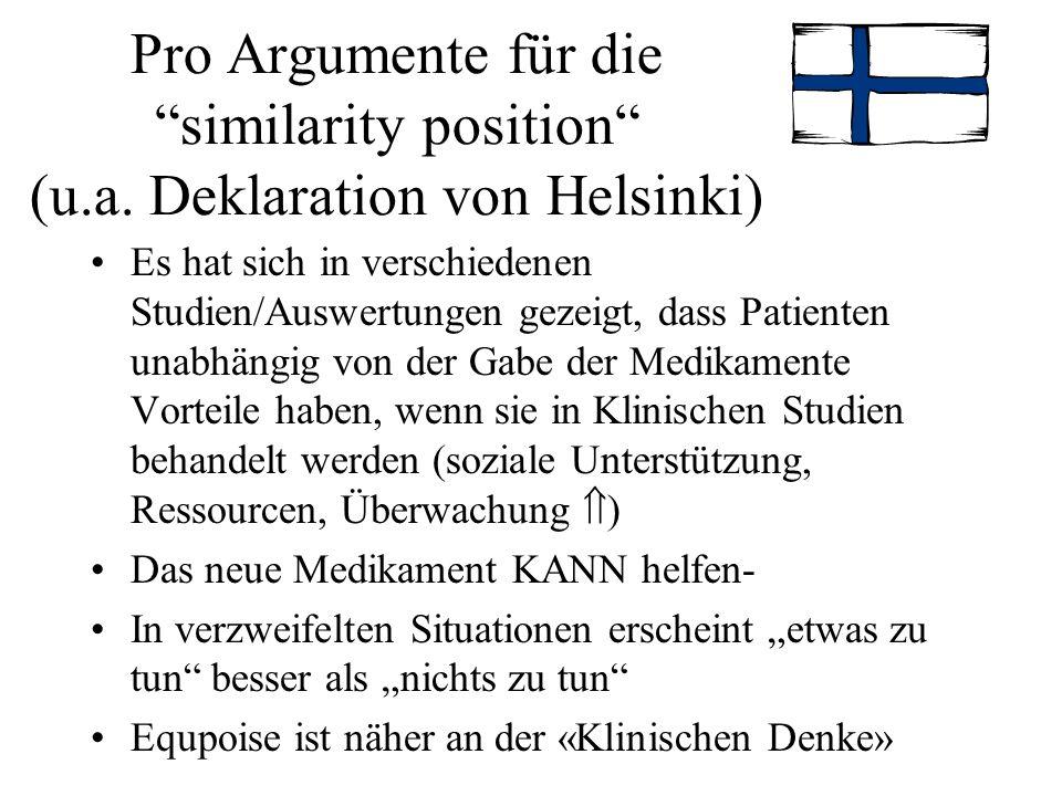 Pro Argumente für die similarity position (u. a